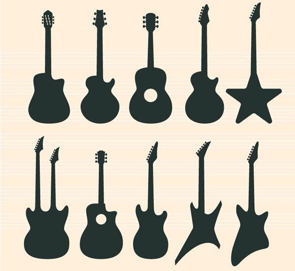 Guitar Silhouette Clip Art