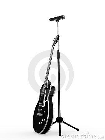 338x450 Guitar Clipart Microphone