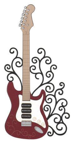 236x461 Guitar Clipart Swirl