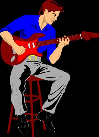 400x553 Guitar Player Clipart