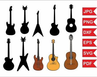 340x270 Guitar Silhouettes Etsy