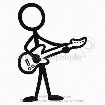 350x350 Stick Figure Guitar