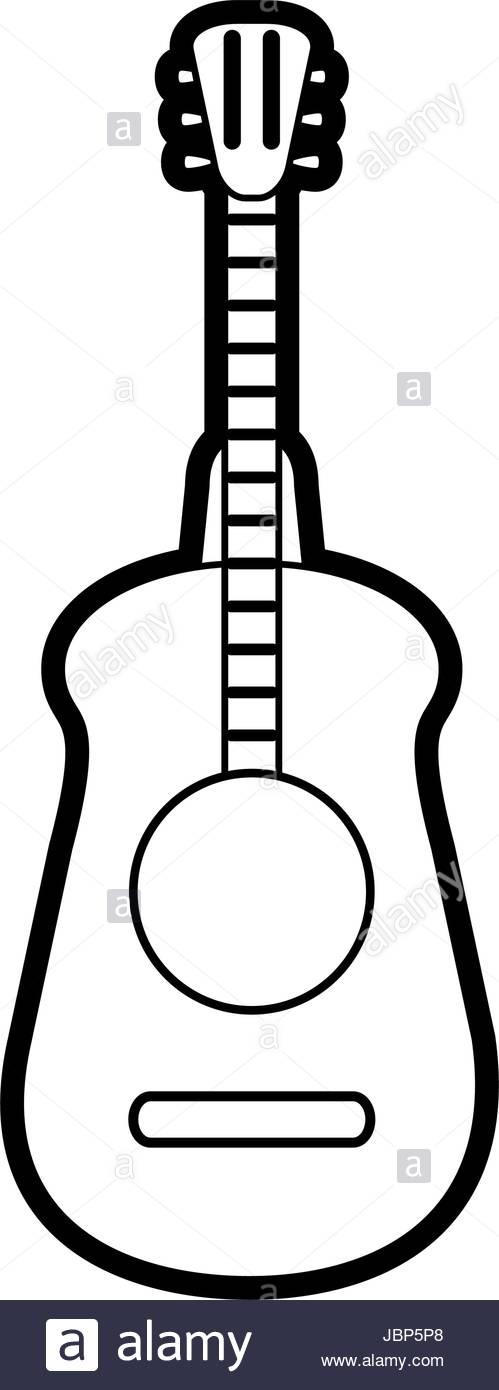 499x1390 Guitar Silhouette Illustration Stock Vector Art Amp Illustration