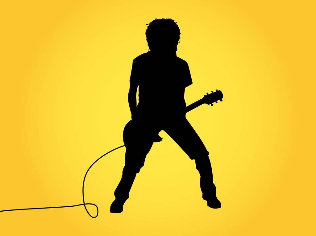 1024x765 Guitar Player Silhouette Graphics Vector Art Amp Graphics