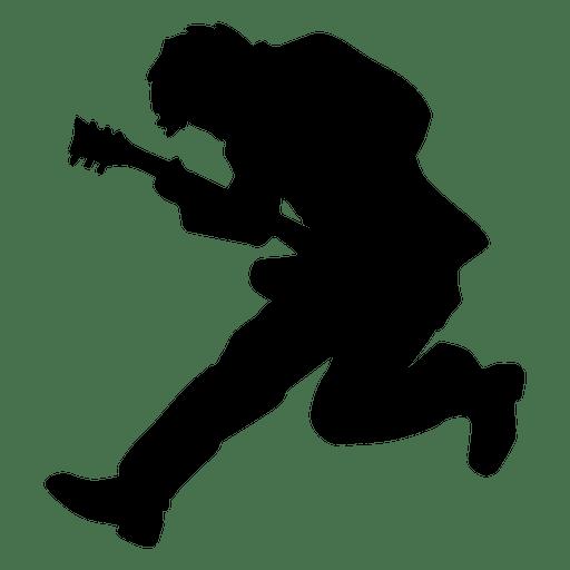 512x512 Guitarist Jumping Silhouette