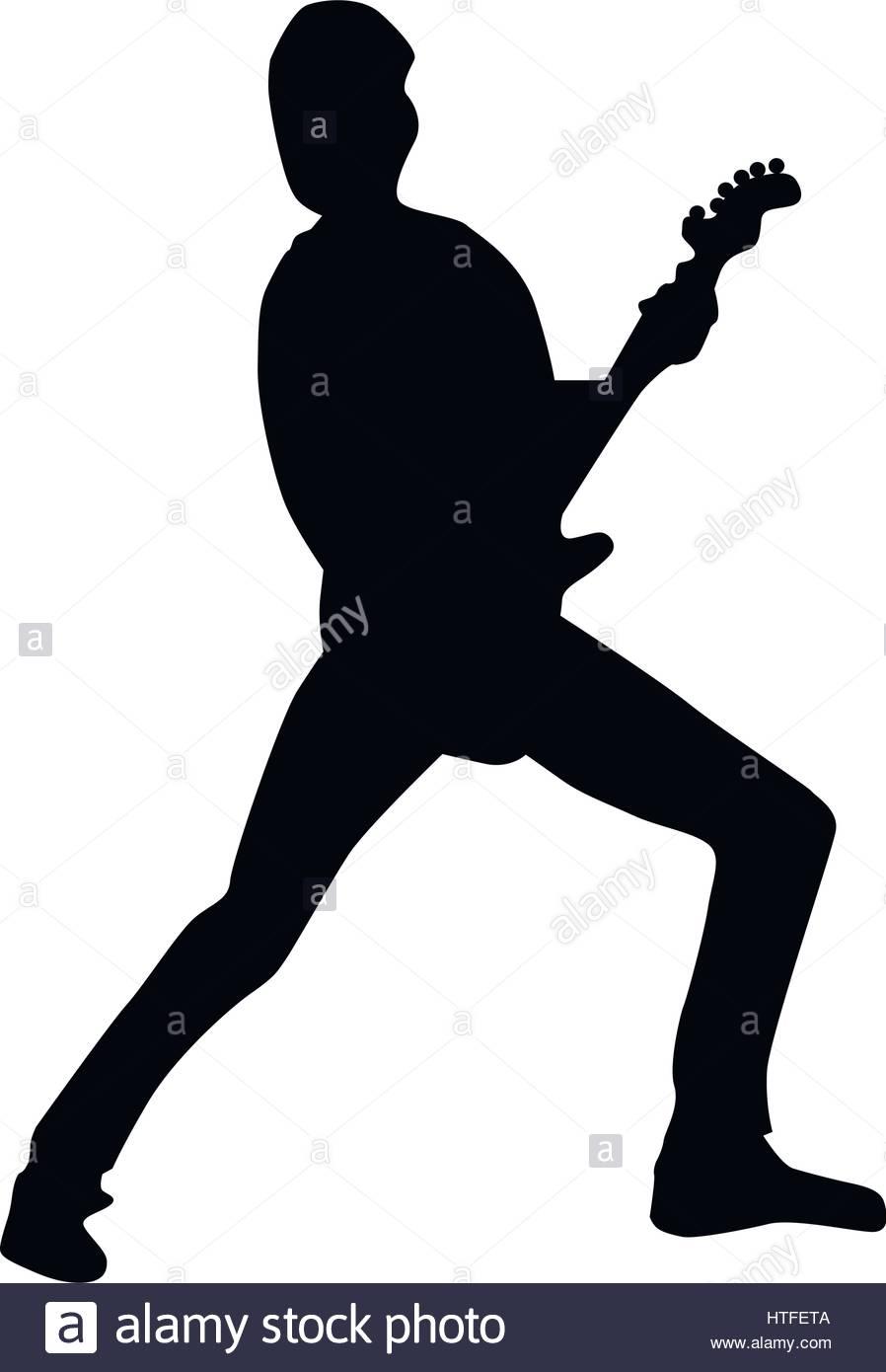 898x1390 Guitarist Silhouette Black Stock Vector Art Amp Illustration, Vector