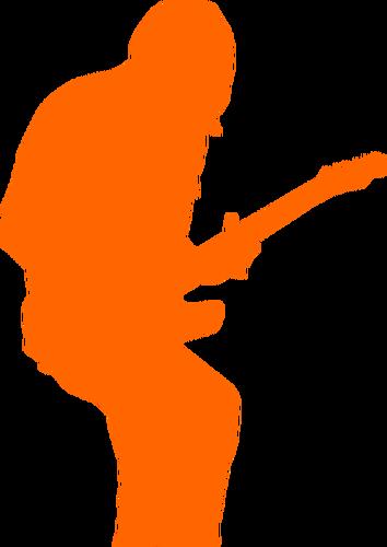 354x500 Rock Guitarist Silhouette Vector Image Public Domain Vectors