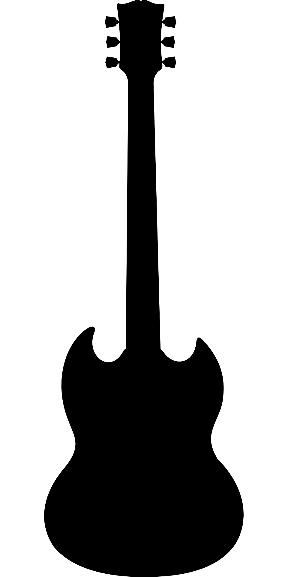 960x1920 Silhouette Of Gibson Guitar Free Image
