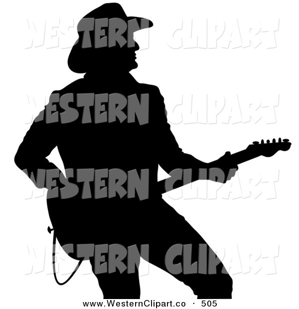600x620 Vector Western Clip Art Of A Black Silhouette Of A Country Western