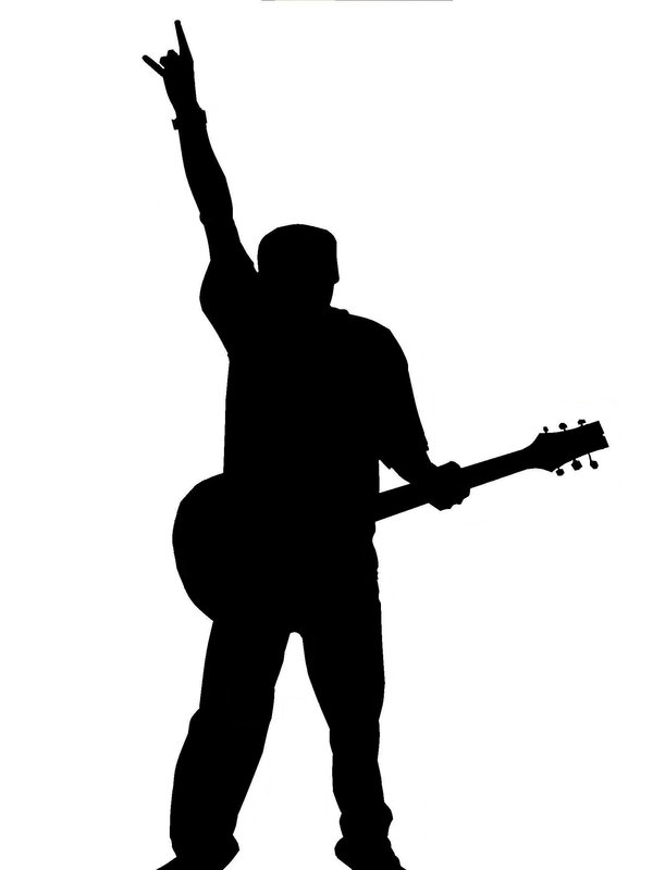 600x800 Guitar Player Silhouette 2 By Chill32