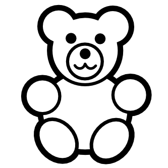 333x333 Pix For Gt Teddy Bear Black And White Clip Art Teddy Bears