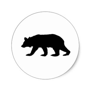 307x307 Bear Silhouette Stickers Amp Labels Zazzle Uk