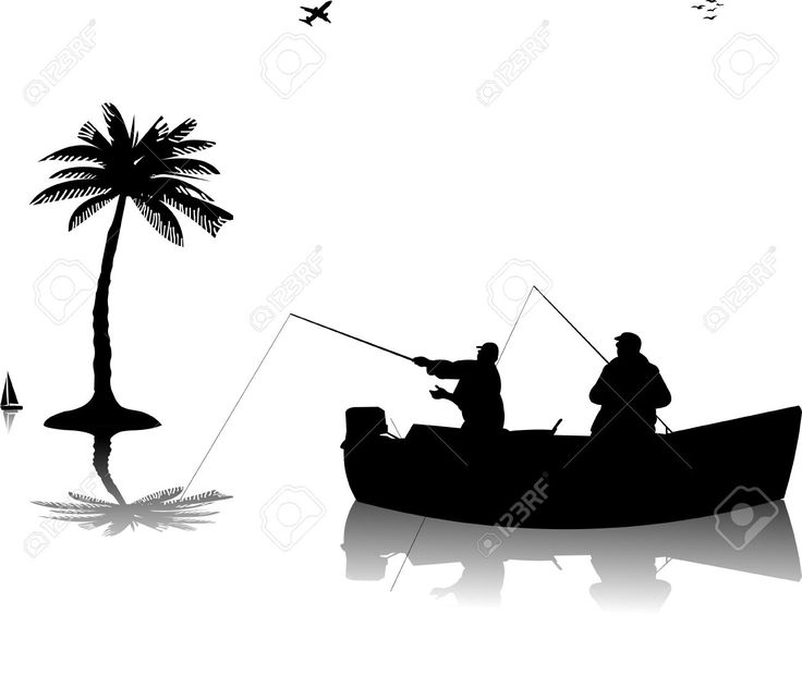 Guy Fishing Silhouette