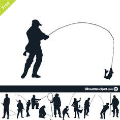 236x236 Man Fishing Silhouette Vector Graphics Download Vector Graphics