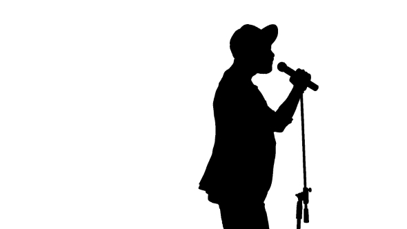 590x332 Black Silhouette Of Guy In A Cap Singing A Song By Lovevision