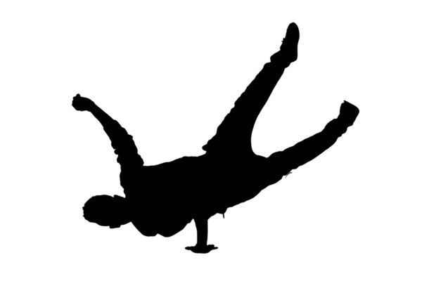 600x400 Silhouette Of A Guy Dancer