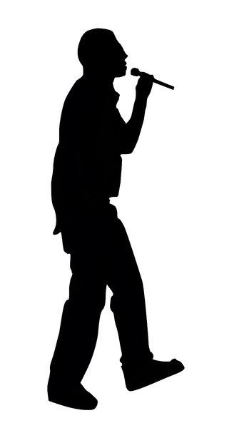 349x600 Singer Silhouette Clipart