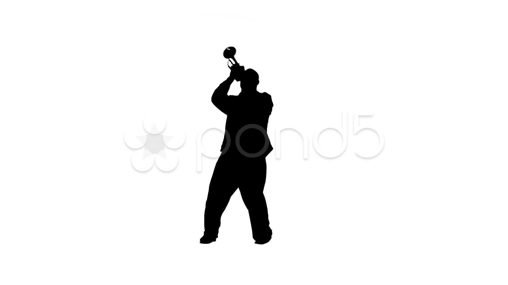 1920x1080 Stock Video Trumpet Guy Silhouette ~