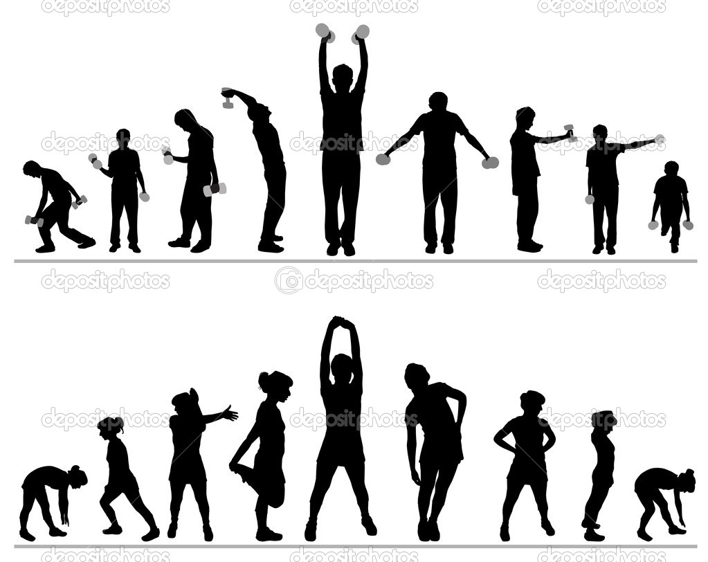 1023x812 Gym Fitness Silhouette Clipart