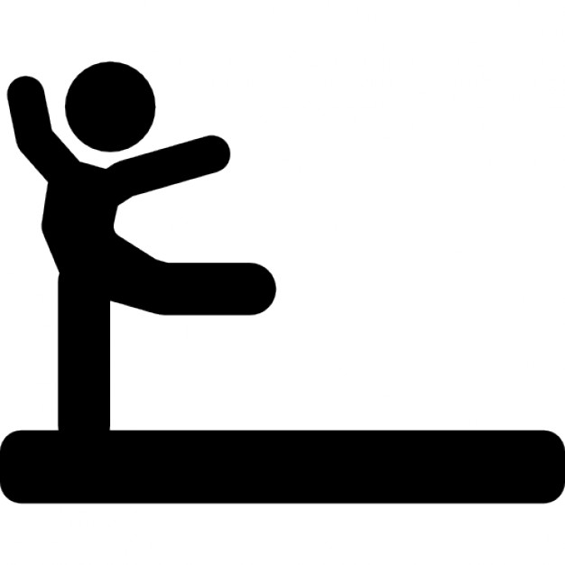 626x626 Individual Gym Practice Black Silhouette Posture Of A Gymnast