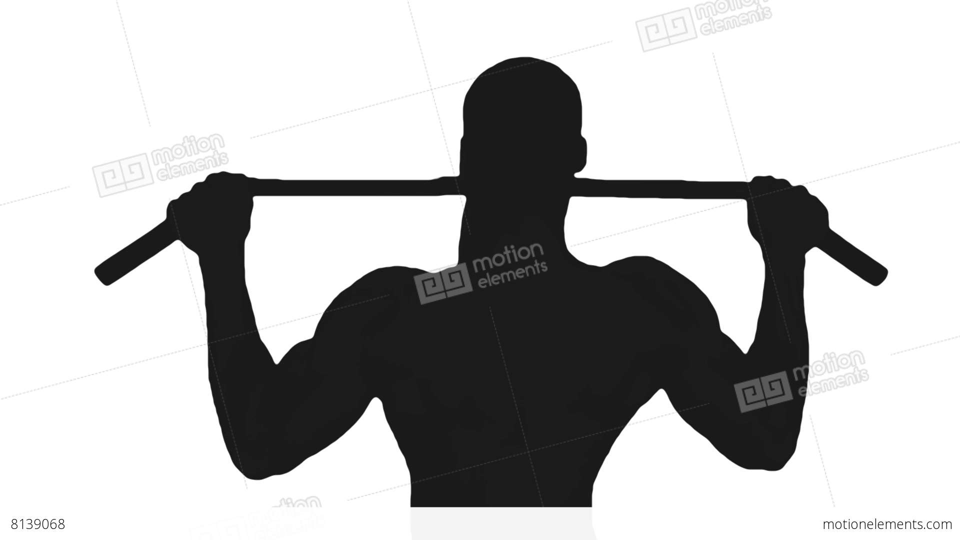 1920x1080 Silhouette 07 Men Making Exercise At Gym Stock Video Footage 8139068