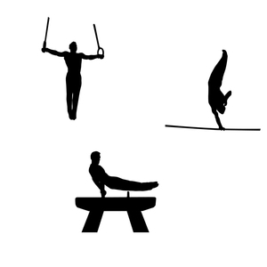 300x300 Gymnastics Silhouette Free Vector