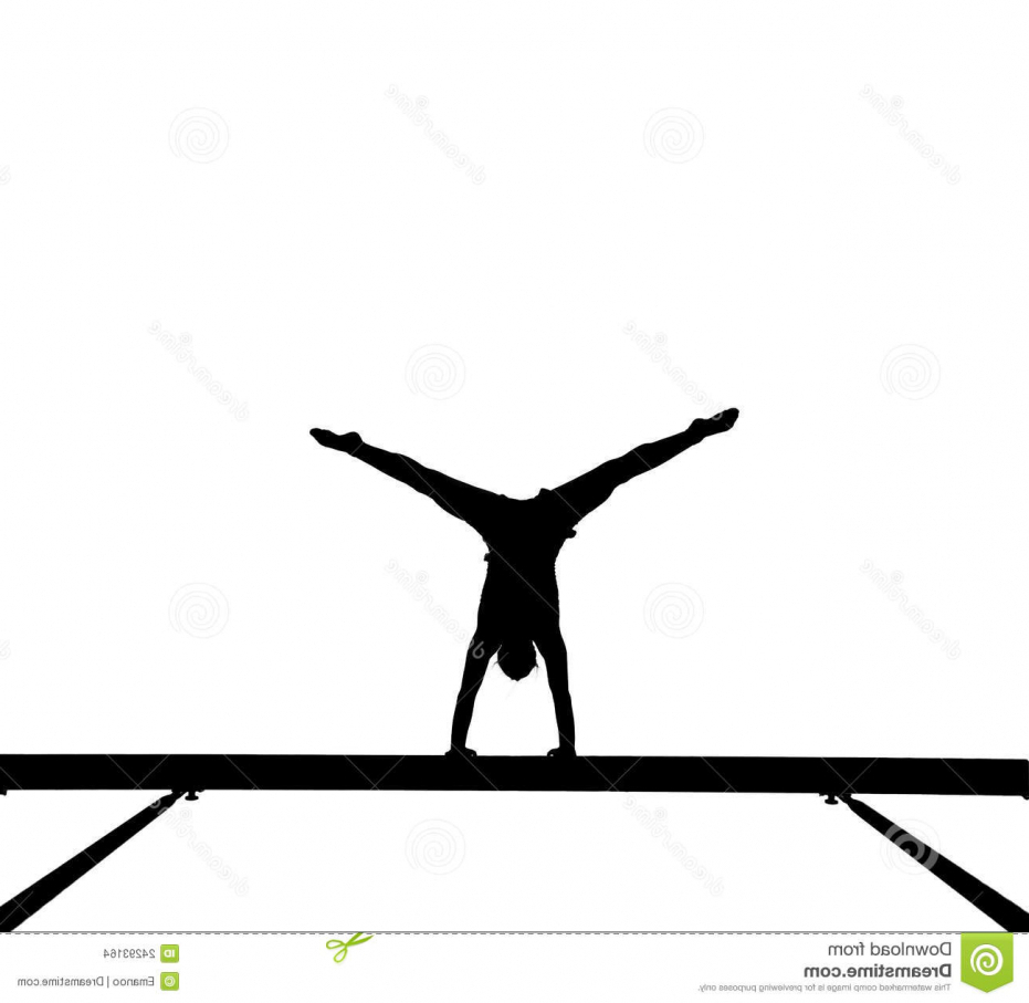 931x907 Gymnast On Pommel Horse Silhouette Royalty Free Vector Image Vault