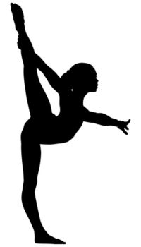gymnast clip art silhouette free at getdrawings com free for rh getdrawings com gymnastics clipart images gymnastics clipart free