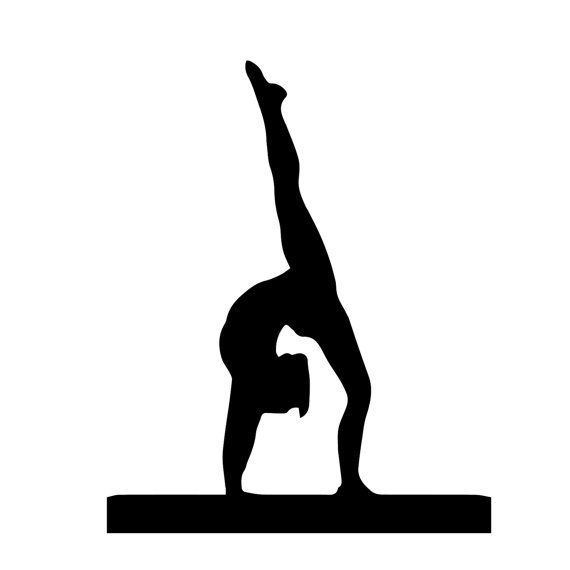 570x570 Gymnast Walkover Hand Stand Silhouette Sports Wall By Danadecals