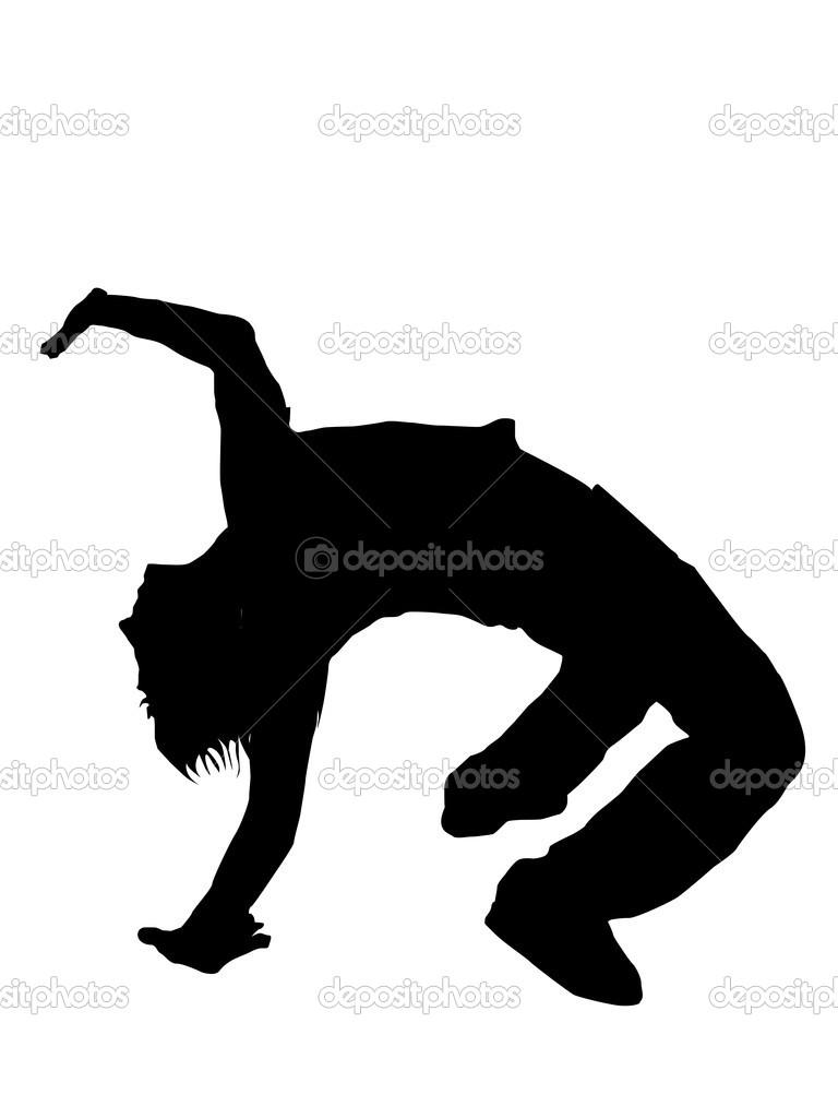 768x1024 Gymnastics Handstand Silhouette