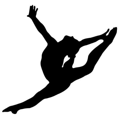 400x400 Black Wall Decals Gymnastics Gymnastics Logo Design