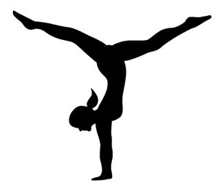 320x277 Gymnast Female Silhouette Decal Sticker