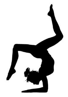 232x330 Gymnast Silhouette 2 Decal Sticker