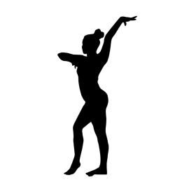 270x270 Gymnast Silhouette Stencil Free Stencil Gallery