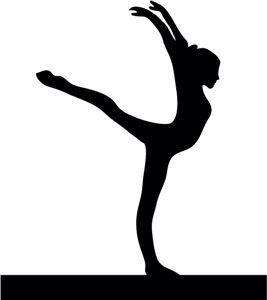 267x300 Gymnast Silhouettes Gymnastics Silhouette Gym Clipart