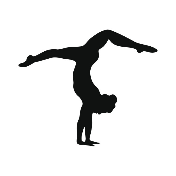 600x600 Gymnastics Clipart Silhouette Handstand
