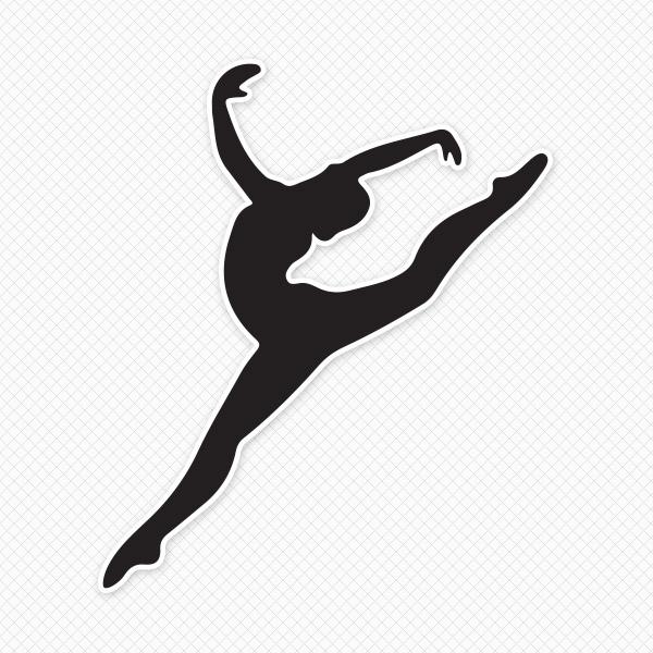 600x600 Gymnastics Silhouette Wall Stickers Gymnastics