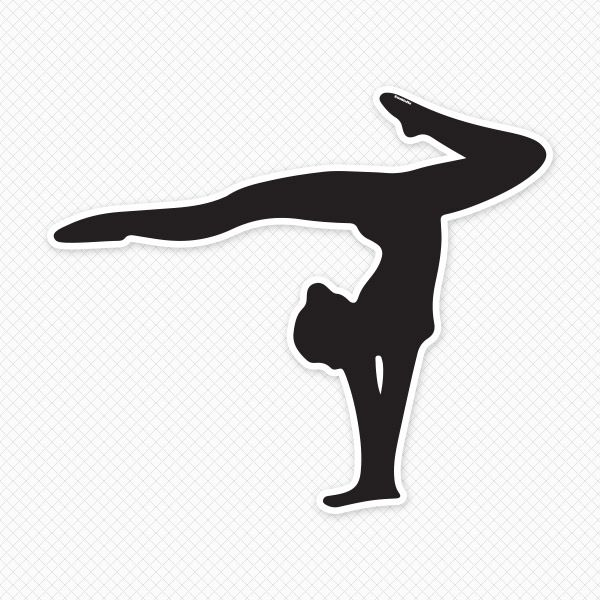 600x600 Gymnastics Silhouette Wall Decal Clip Art Free, Gymnasts