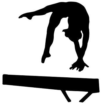 351x355 Black Gymnastics Silhouette Wall Decal By Wallmonkeys