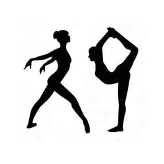 236x236 Free Printable Gymnastic Silhouettes To Use This Stock Image