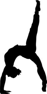 150x300 Girl Gymnastics Clipart Silhouette Clipart Panda