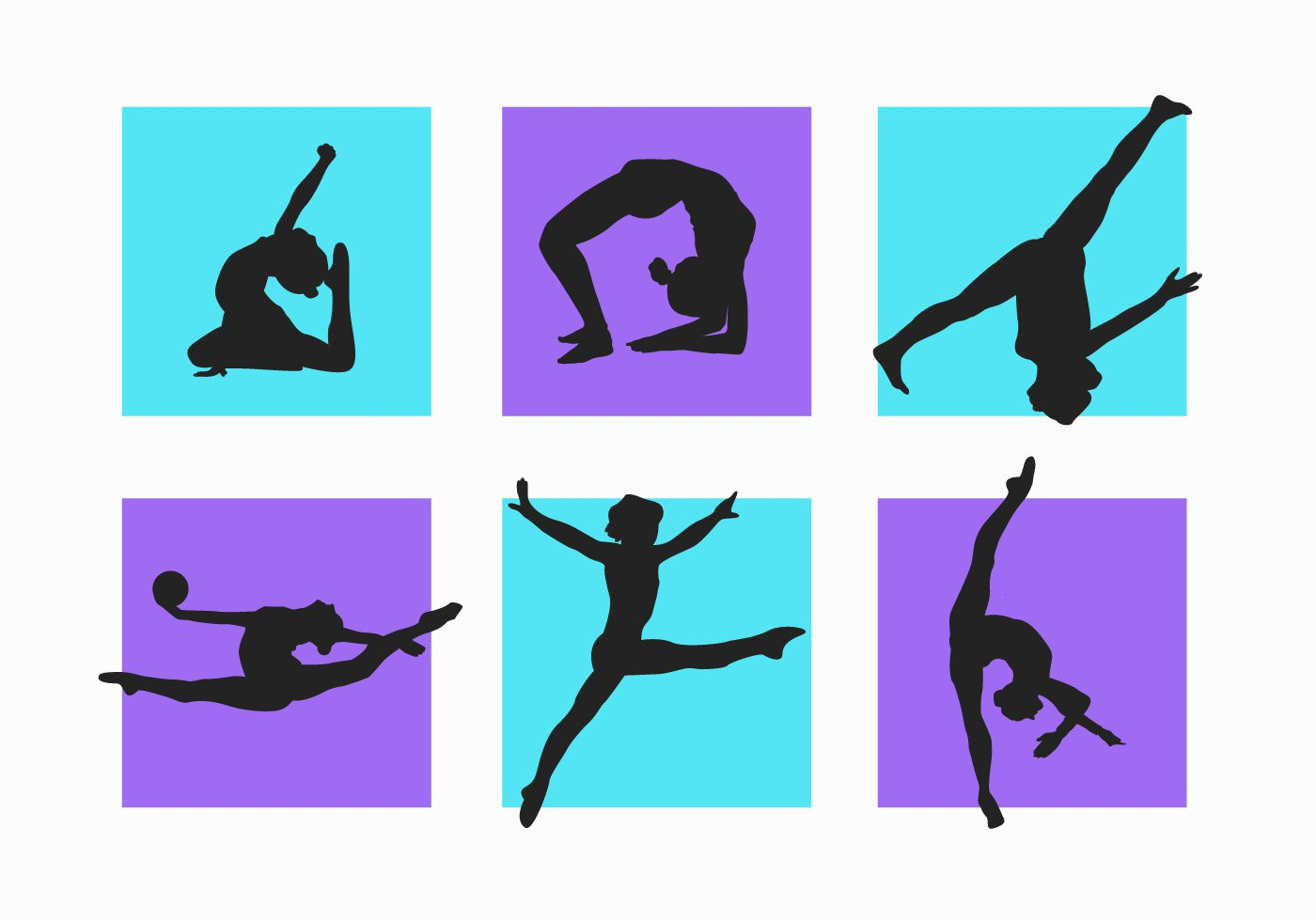 Gymnast Silhouette Clip Art Free