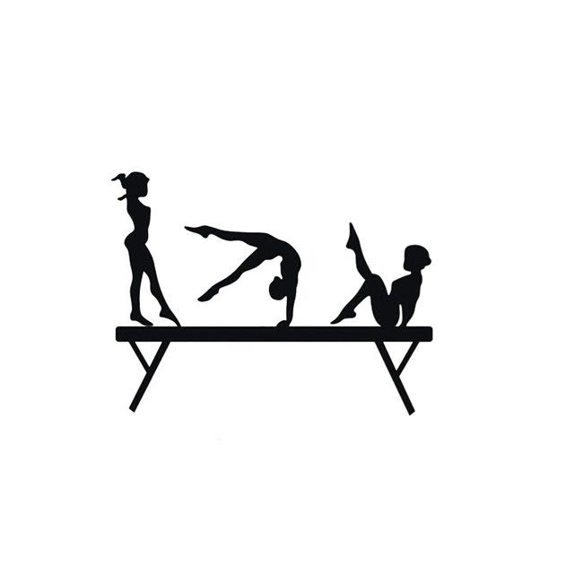 Gymnastics Beam Silhouette