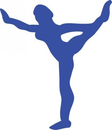 366x425 Gymnastics Clipart Colored
