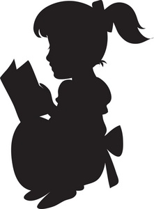 221x300 Baby Girl Silhouette Clip Art