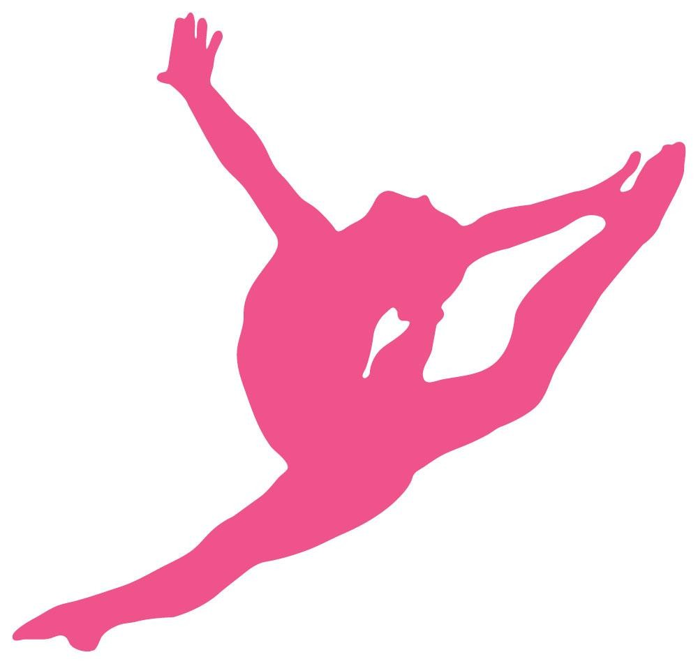 1000x951 Hand Painted Wall Murals With Gymnastics Silhouettes