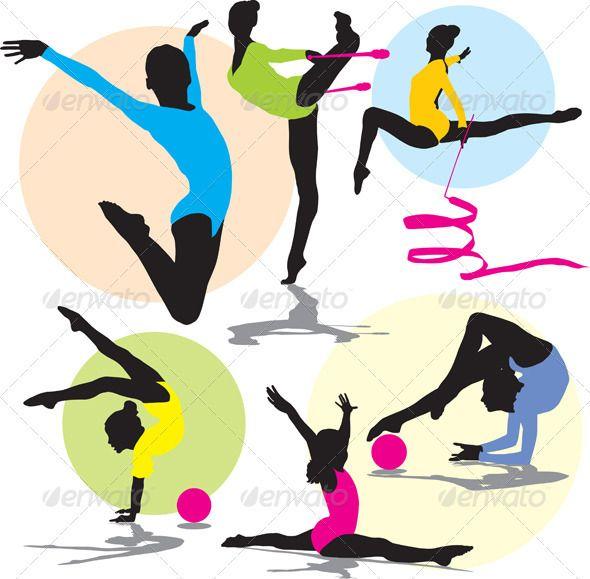 590x579 Silhouettes Rhythmic Gymnastics Gymnastics, Silhouettes And Font