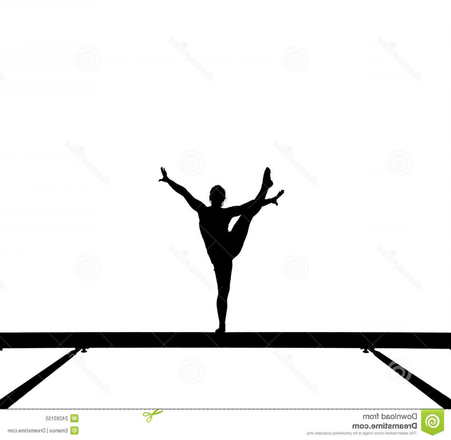 1560x1520 Royalty Free Stock Photo Gymnast Balance Beam Gymnastics