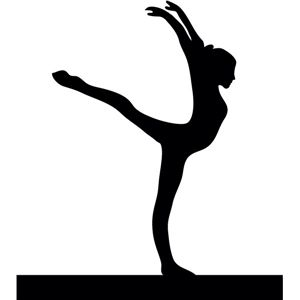 300x300 Balance Beam Gymnast Silhouettes, Silhouette Design And Cricut