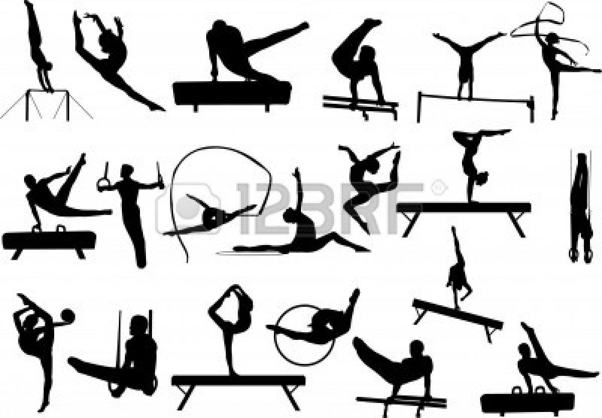 1200x834 Gymnastics Split Clipart